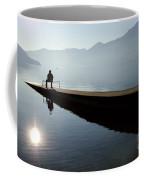 Man Sitting On The Pier Coffee Mug