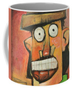 Man With Terracotta Hat And Green Shirt Coffee Mug