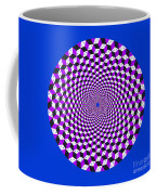 Mandala Figure Number 5 With Rhombus Steps In Black And White And Purple Coffee Mug