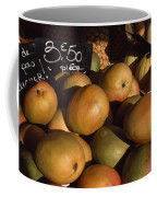 Mangoes And Melons Priced In Euros Coffee Mug by David Evans