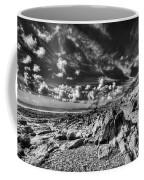 Manorbier Rocks Too Mono Coffee Mug