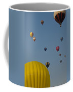 Many People Lift Off In Hot Air Coffee Mug by Stacy Gold