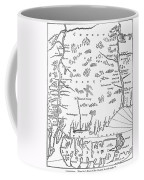 Map: Connecticut, 1661 Coffee Mug