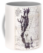 Map: Mississippi River, 1874 Coffee Mug