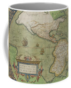 Map Of North And South America Coffee Mug