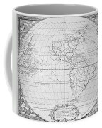Map Of The New World 1587 Coffee Mug