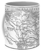Map: Suez Canal, 1869 Coffee Mug