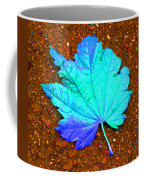 Maple Leaf On Pavement Coffee Mug