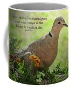 Marigold Dove With Verse Coffee Mug