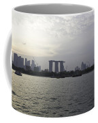 Marina Bay Sands And Flyer Along With Singapore Skyline From The Coffee Mug
