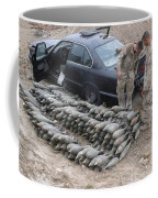 Marines Discover A Weapons Cache Coffee Mug by Stocktrek Images