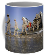 Marines Disembark From A Landing Craft Coffee Mug