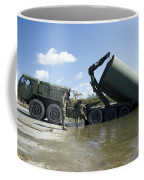 Marines Lower An Improved Ribbon Bridge Coffee Mug