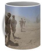 Marines Move Through A Dust Cloud Coffee Mug