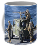 Marines Provide Security Aboard Coffee Mug