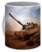Marines Roll Down A Dirt Road Coffee Mug by Stocktrek Images