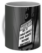 Marquee At Winterland In Late 1975 Coffee Mug
