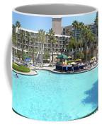 Marriott Hotel Swimming Pool Panorama Orlando Fl Coffee Mug
