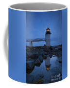 Marshall Point Lighthouse In Winter Storm. Coffee Mug