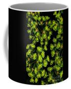 Martian Plants Against Black Coffee Mug