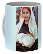 Mary And Baby Jesus At The Christmas March In Bethlehem Coffee Mug