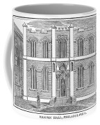 Masonic Hall, C1830 Coffee Mug