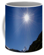 Matterhorn With Sunbeam Coffee Mug