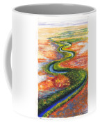 Meandering River In Northern Australian Channel Country Coffee Mug