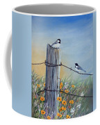 Meeting At The Old Fence Post Coffee Mug
