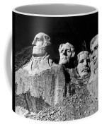 Men Working On Mt. Rushmore Coffee Mug