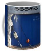 menorca st - A warehouse door in Es Castell Menorca ready to keep local tradicional boats llauts Coffee Mug