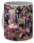 Merchants At Saqqaras Market Carry Coffee Mug