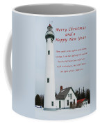 Merry Christmas Lighthouse Coffee Mug