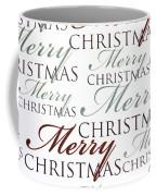 Merry Christmas Words Coffee Mug