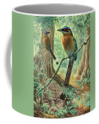 Mexican Motmots Are Perched On Jungle Coffee Mug by Walter A. Weber