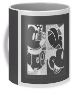 Mickey In Negative Black And White Coffee Mug
