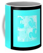 Mickey In Negative Turquois Coffee Mug