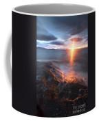 Midnight Sun Over Vågsfjorden Coffee Mug