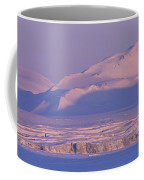 Midnight Sunlight On Polar Mountains Coffee Mug by Gordon Wiltsie