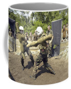 Midshipmen Battle With Pugil Sticks Coffee Mug