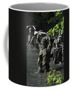 Midshipmen Cross A Creek During Sea Coffee Mug