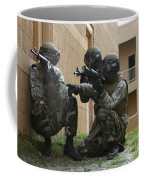 Midshipmen Take Cover During Urban Coffee Mug