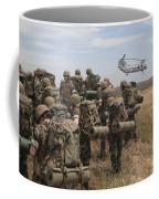 Midshipmen Watch As A U.s. Marine Corps Coffee Mug
