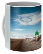 Milepost At The Dempster Highway Coffee Mug