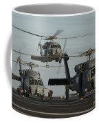 Military Helicopters Land On The Flight Coffee Mug