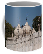 Minarets And Structure Of Pearl Mosque Inside Red Fort Coffee Mug