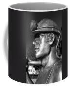 Miner Statue Monochrome Coffee Mug