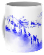 Minimal Landscape Monochrome In Blue 111511 Coffee Mug