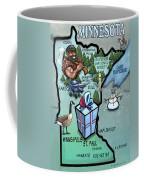 Minnesota Cartoon Map Coffee Mug