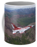 Minute Men Paint Scheme On An F-16 Coffee Mug